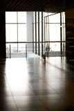 Glass wall in the office building Royalty Free Stock Image