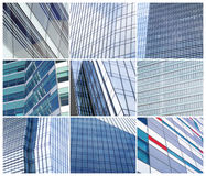 Glass wall of office buildings collage Royalty Free Stock Image