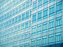 Glass wall with open windows. Abstract Stock Photo