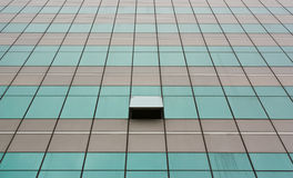 Glass wall with open windows - background. Royalty Free Stock Photography