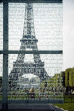 Glass wall of peace in Paris, France Stock Images