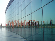 Glass wall reflection Royalty Free Stock Photos