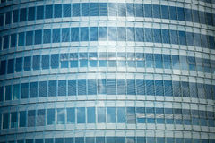Glass wall of a skyscraper. Blue glass wall of a skyscraper Royalty Free Stock Photography