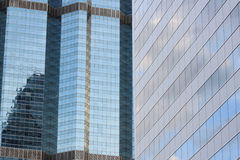 Glass wall of a skyscraper. Glass wall of a skyscraper for design business background in your work Royalty Free Stock Photography