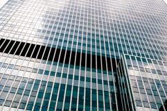 Glass wall of skyscraper. Glass mirror wall of skyscraper stock photo