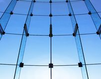 Glass wall structure Stock Image