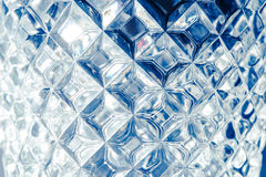 Glass wall texture, abstract blue background. Stock Image