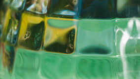 Glass wall texture green yellow abstract background Royalty Free Stock Image