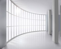 Glass wall. Vector illustration. Royalty Free Stock Photo