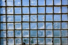 Glass wall with windows in retro style, background of those times stock photography