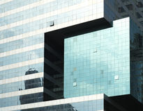 Glass Walls of Insurance Buildings Stock Image