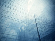 Glass walls of skyscraper Royalty Free Stock Images