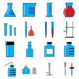 Glass wares in chemistry Stock Images