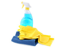 Glass washing kit Royalty Free Stock Images
