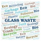 Glass Waste word cloud. Wordcloud made with text only vector illustration