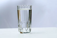 Glass of water. A glass full of water Stock Photos