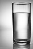 Glass of water. Glass of pure water with copyspace Royalty Free Stock Images