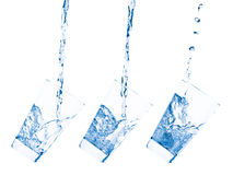 Glass and water Royalty Free Stock Images