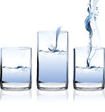 Glass of Water. Royalty Free Stock Photography