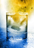 Glass with water. Royalty Free Stock Image