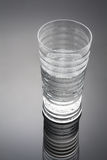 Glass of Water. With Reflection Stock Photos