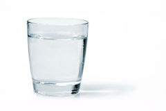 Glass with water royalty free stock photos