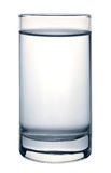 Glass of water. On white background