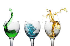 Glass with water Stock Image