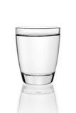 Glass of water. Glass of table-water. Isolated on a white background Stock Photo