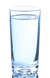 Glass with water. On a white background Royalty Free Stock Photo