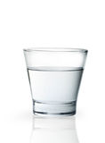 Glass with water. On a white background Royalty Free Stock Photos
