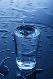 Glass of water. A  glass of water Royalty Free Stock Photo