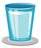 Glass of Water. Isolated on white background vector Royalty Free Stock Photo