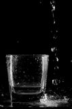 Glass and water #3 Royalty Free Stock Images