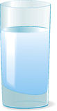 Glass with water vector illustration