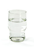 Glass with water. Royalty Free Stock Photo
