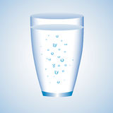 Glass of water. Vector illustration stock illustration