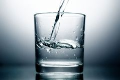 Glass and Water Royalty Free Stock Image