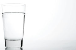 Glass of Water. In white background stock image