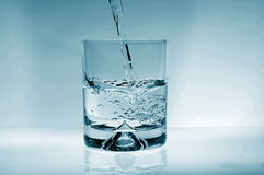 Glass of water. For refreshment in summer or at a party Stock Image