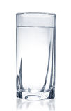 Glass of water. On white background Royalty Free Stock Photo
