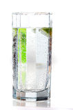 Glass with water. On the white background Stock Images