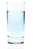 Glass of water or any other light blue liquid Stock Photography