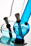 Glass Water Bongs Over White Royalty Free Stock Photos