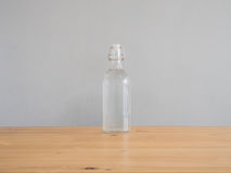 Glass of water bottle. stock images