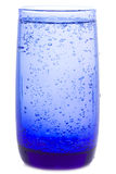 Glass of water with bubbles Royalty Free Stock Images