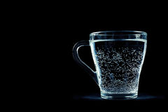 Glass of water with bubbles Stock Image