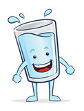 Glass of Water Character Royalty Free Stock Images