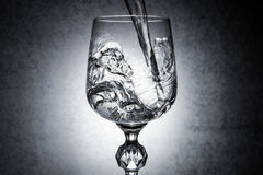 Glass of water. Glass of clear drinking water stock image