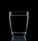 Glass water clear isolate Royalty Free Stock Image